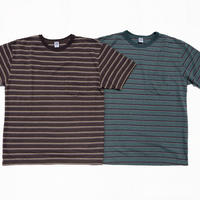 Pique Border S/S Pocket T Shirts