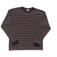 Pique Border L/S Pocket Tee Brown