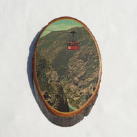 "Wooden wall hanging photo ""gondola"""