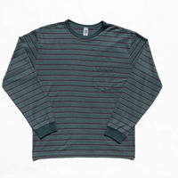Pique Border L/S Pocket Tee Green