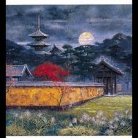 絵はがき:塔映「月」