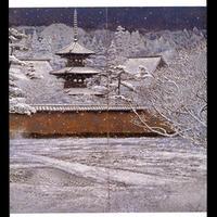 絵はがき:塔映「雪」