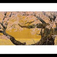 絵はがき:桜花浄苑雙図 (左雙)