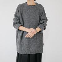 UNIVERSAL TISSU|TISSU|ティシュ|英国羊毛クルーネックニット|size3|グレー|TS183KN080 |