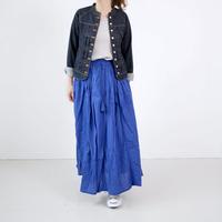 Le mien  ルミアン|コットンレースギャザースカート|LGL003 |BLUE /GREEN