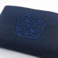 合格祈願 ミニティッシュケース  目立たない紺色刺繍