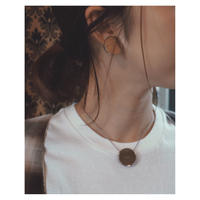 THE Dallas「plate point necklace」