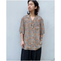 FACCIES「Oriental Pattern Rayon Shirt」B/Green.