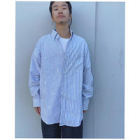 MALION vintage × g.l.c. 「 US stripe paint shirts 」B