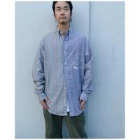 MALION vintage × g.l.c.  「US stripe paint shirts 」K