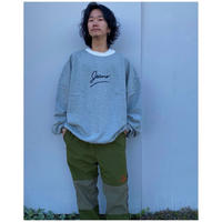 PHINGERIN「JEANS TRIMMED SWEAT」