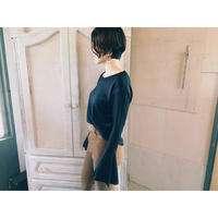 DOMENIICO+SAVIO 「FLARE SLEEVE PULLOVER」black