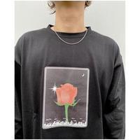 SON  OF THE CHEESE × Sam Ryser「Flower  LS TEE」black.