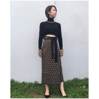 TAN.「CRAVE WRAP SKIRT」