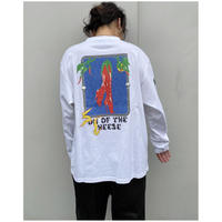 SON  OF THE CHEESE × Sam Ryser「Chill LS TEE」white.