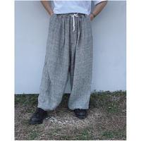 FACCIES「S/L Super wide pants」glen check.