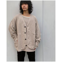 ETHOS「WOOLY CARDIGAN」mouse-gray.