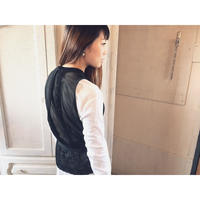 TAN. 「CLEAR LACY VEST」