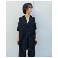 ERIKOKATORI「Big Pocket Back Open shirts」black.