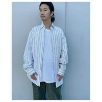 MALION vintage × g.l.c.  「US stripe paint shirts 」E
