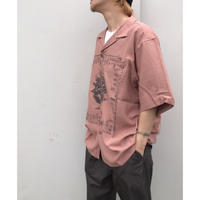 Black Weirdos 「Black Weirdos × RADIALL  CHICANO ROSE - OPEN COLLARED SHIRT」