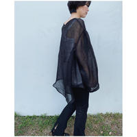 ERiKOKATORi「Linen Gauze See-Through L/S-T」black.
