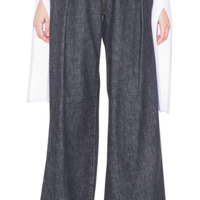 CATCOPY  「denim  wide  baggy  pants」
