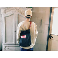 WEST OVER ALLS 「DENIM ONE SHOULEDER BAG」 black