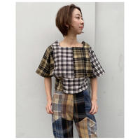 MALION vintage「nell check top」
