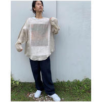 ERiKOKATORi「Linen Gauze See-Through L/S-T」natural.