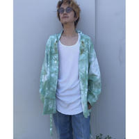 Black Weirdos × THE NEW ORDER「Tie Dye Short Gown Coat」beige