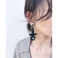 THE Dallas「leather dallas earring」