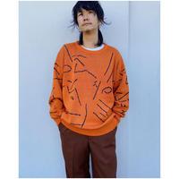COMFORTABLE REASON「Automatism Knit」orange.