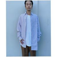 MALION vintage × g.l.c.  「US stripe paint shirts 」M