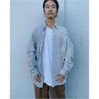 MALION vintage × g.l.c.  「US stripe paint shirts 」O