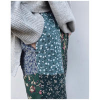 MALION vintage「flower patchwork pants」