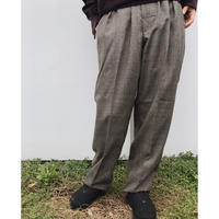 COMFORTABLE REASON「Wool Glencheck slacks」