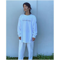 PHINGERIN「SITUATION TEE L/S」white.