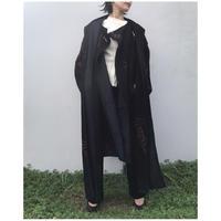 Eica yoshinari「Letter Jacquard cape coat」