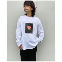 SON  OF THE CHEESE「SON  OF THE CHEESE × Sam Ryser「Flower LS TEE」white.