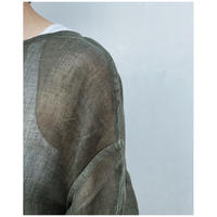 ERiKOKATORi「Linen Gauze See-Through L/S-T」khaki.