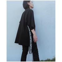 HOLIDAY「SUPER FINE DRY S/S MINI DRESS(TAPE)」black.