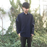 ETHOS  「MANTO SHIRTS」 navy
