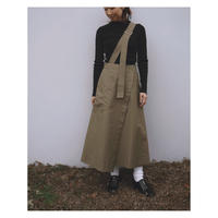 G.V.G.V.「COTTON NYLON TWILL SINGLE SUSPENDER SKIRT」