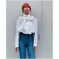 MALION vintage「big tie cutwork blouse」