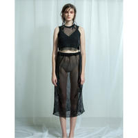 TAN.  「CLEAR LACY SKIRT」