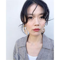 THE Dallas「ring leaf earring」