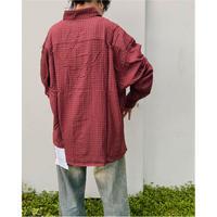 BLACK WEIRDOS「Big Pocket Shirt」 burgundy.