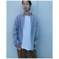 MALION vintage × g.l.c.  「US stripe paint shirts 」S