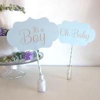 ベビーシャワー フォトプロップス * It's a Boy(PDFデータ)